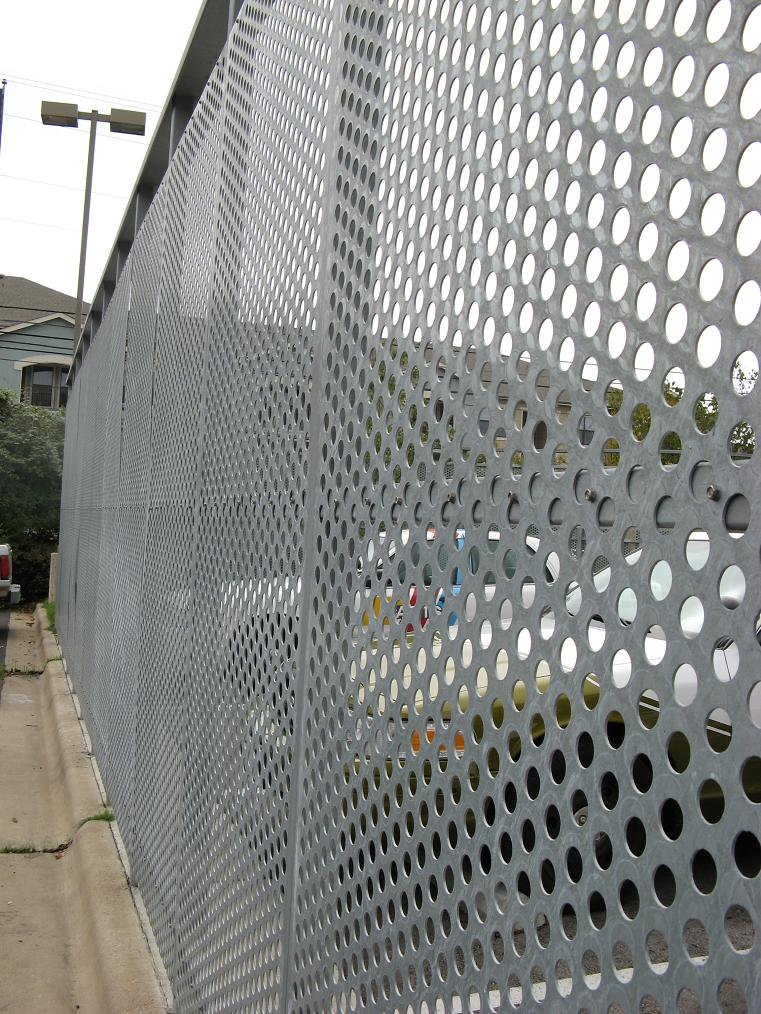 perforated metal fence:protective fence:burglar fence-perforated metal mesh fence customer ...
